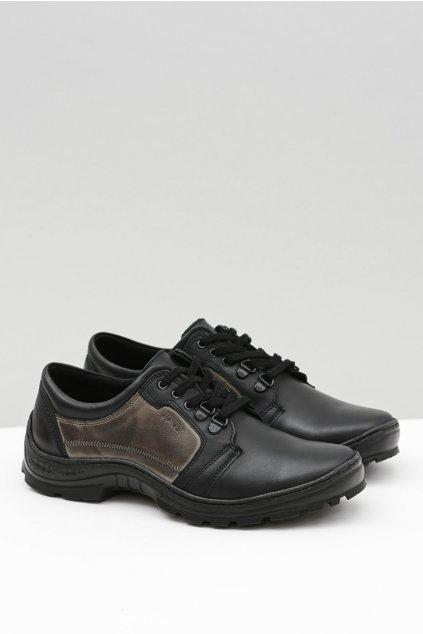Pánske poltopánky farba čierna kód obuvi 192 BLK