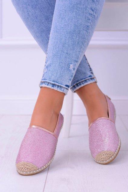 Dámske espadrilky farba ružová kód obuvi 2870-1 PINK