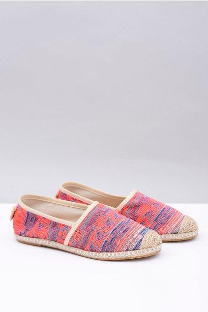 Lu Boo | Dámske textílne espadrilky Aztécky korál Bimbi