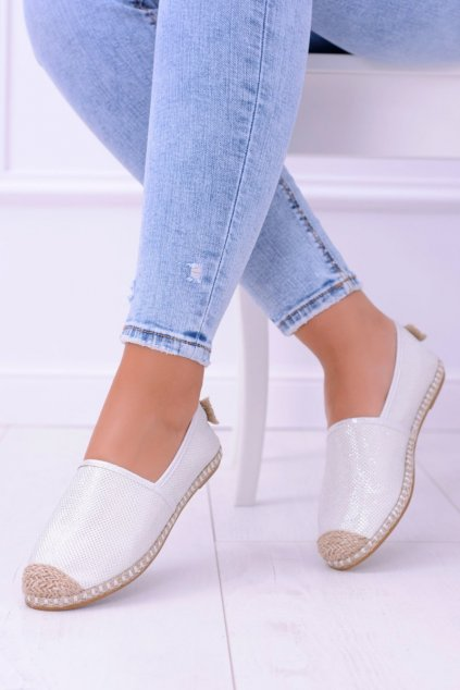 Dámske espadrilky farba biela kód obuvi 2870-1 WHITE