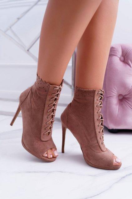 Lu Boo šnurovacie topánky sandále na vysokých podpätkoch Natasha