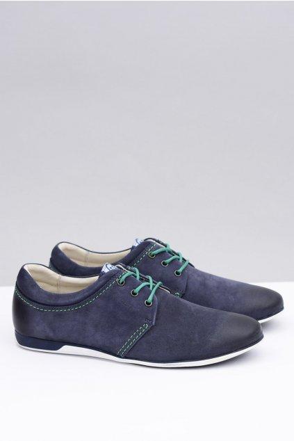 Pánske poltopánky farba modrá kód obuvi 4584 NAVY