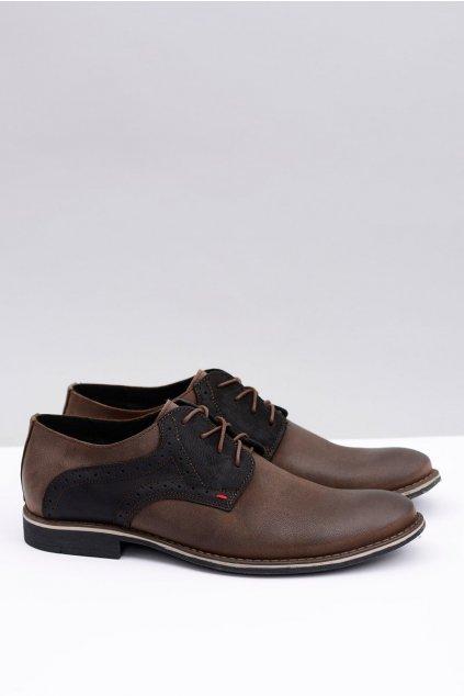 Neex | Hnedá kožená pánska obuv