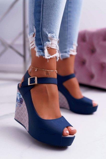 Dámske námořní modré sandále Nemesis