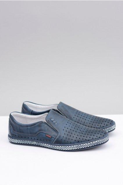 Poľské vsuvky pánske kožené topánky Bruno