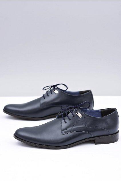 Elegantné tmavé modré svadobné topánky Damaso