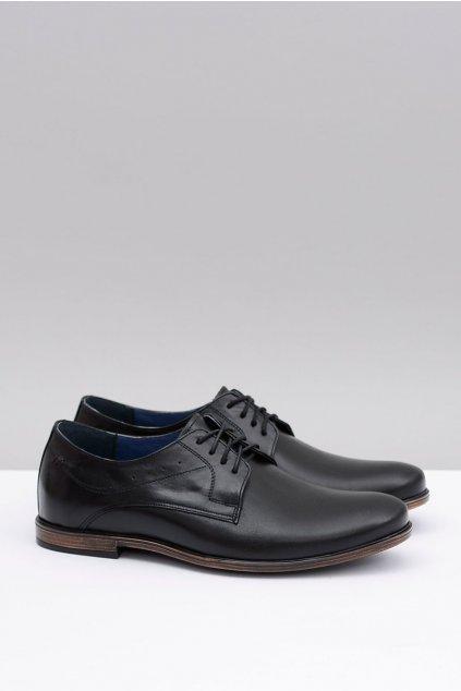 Pánske poltopánky farba čierna kód obuvi 1617 BLK