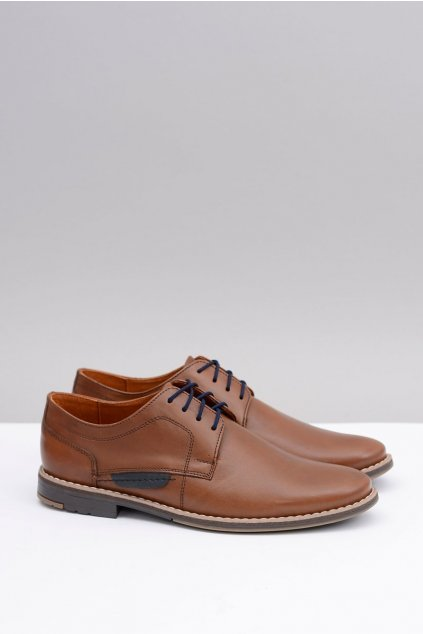 Elegantná pánska obuv prírodná koža Raffi hnedá