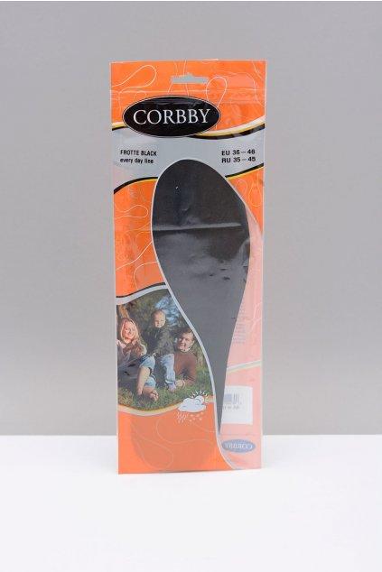 Vložky do topánok stielky kód 1204 CORBBY FROTTE BLACK
