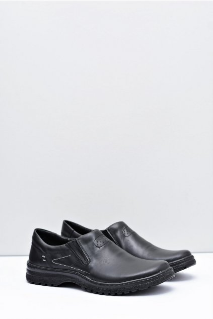 Čierne kožené pánske topánky Modest