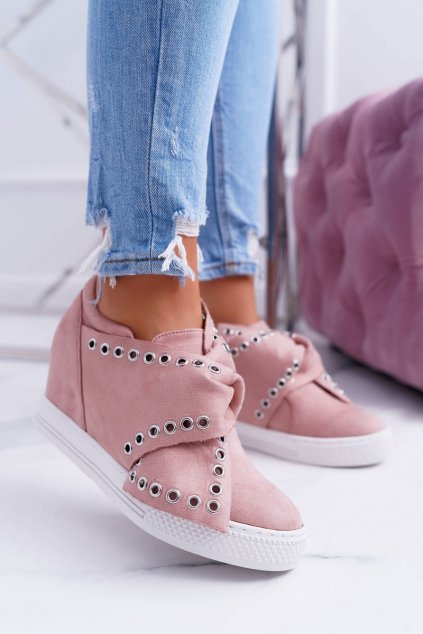 Dámska obuv tenisky ružové LU BOO Margo