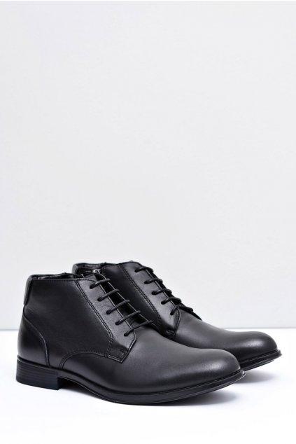 Pánské topánky kožené čierne topánky Artemigo