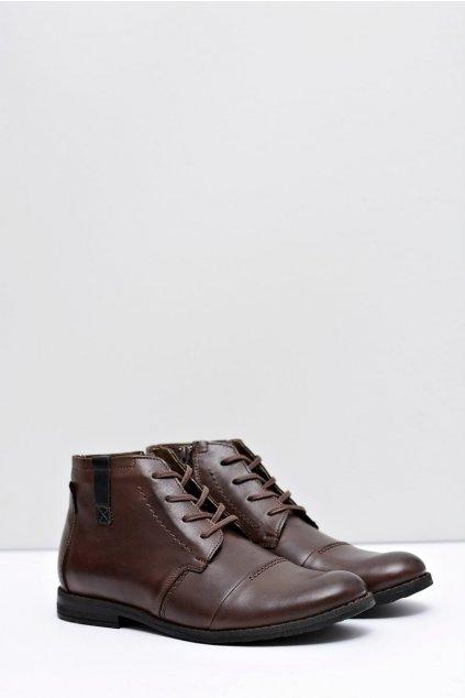 Pánske topánky kožené hnedé Testo