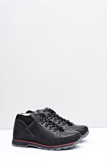 Pánske topánky na zimu farba čierna kód obuvi 870 BLK