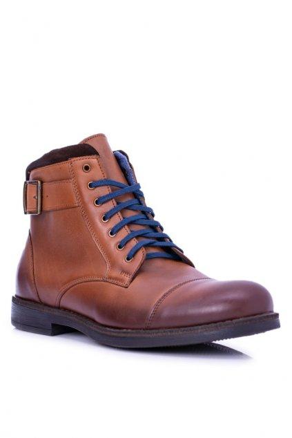 topánky polské pánske hnedé Mintos