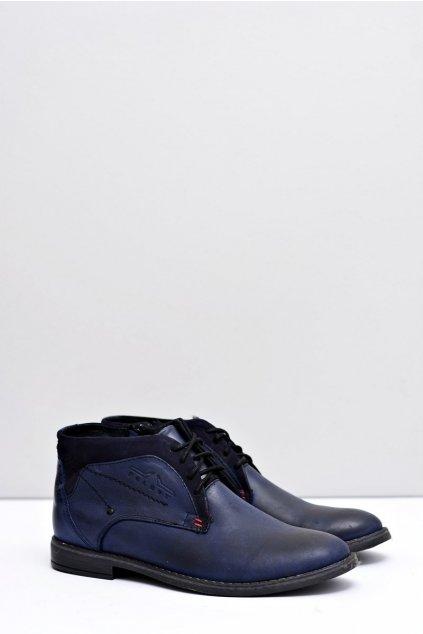 Pánske topánky na zimu farba modrá kód obuvi J-43 NAVY