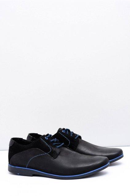 Pánske poltopánky farba čierna kód obuvi 817 BLK MARIO