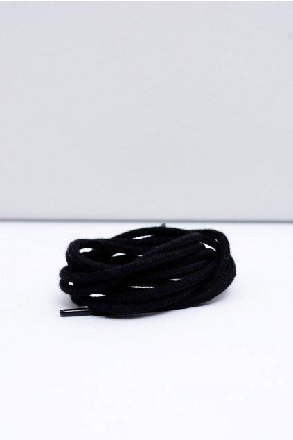 Šnúrky do topánok farba čierna kód Okrągłe czarne