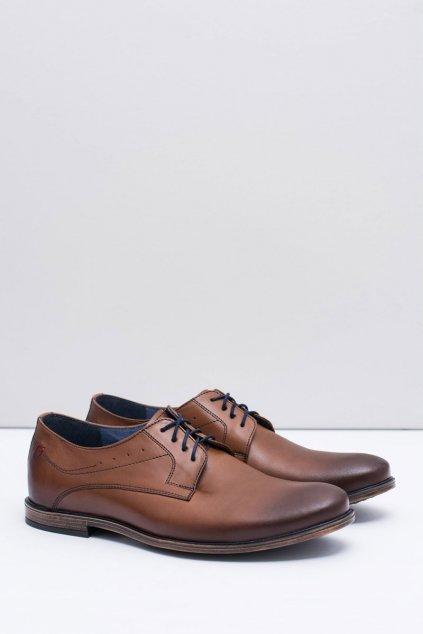 Pánske poltopánky farba hnedá kód obuvi 1617 BROWN