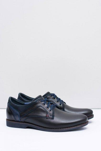 Pánske poltopánky farba čierna kód obuvi 1643 BLK GROCH