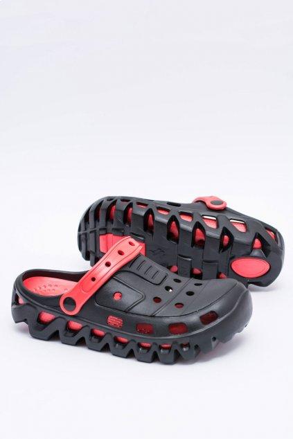 Čierne pánske záhradné žabky EVA