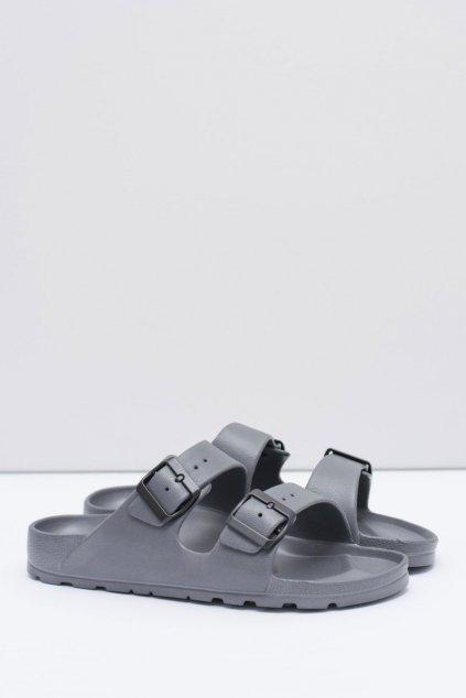 Pánske šľapky farba sivá kód obuvi B-1015 D.GREY
