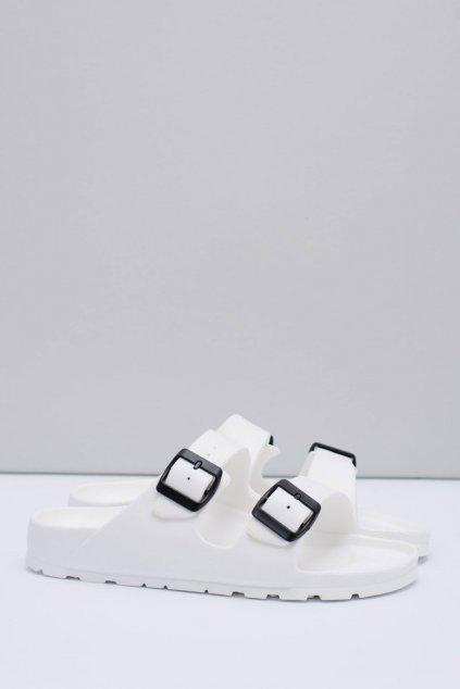Pánske šľapky farba biela kód obuvi B-1015 WHITE