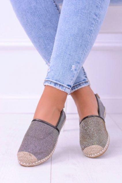 Dámske espadrilky farba hnedá kód obuvi 2870-1 BRONZE