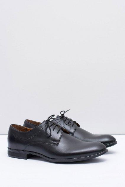 Pánske poltopánky farba čierna kód obuvi 711 BLK