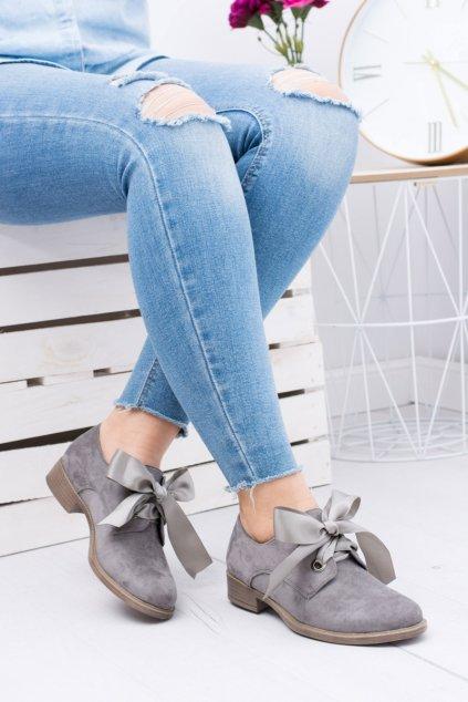Šedá Dámska obuv Sergio Leone Suede Pergio