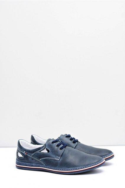 Pánske poltopánky farba modrá kód obuvi 411 NAVI
