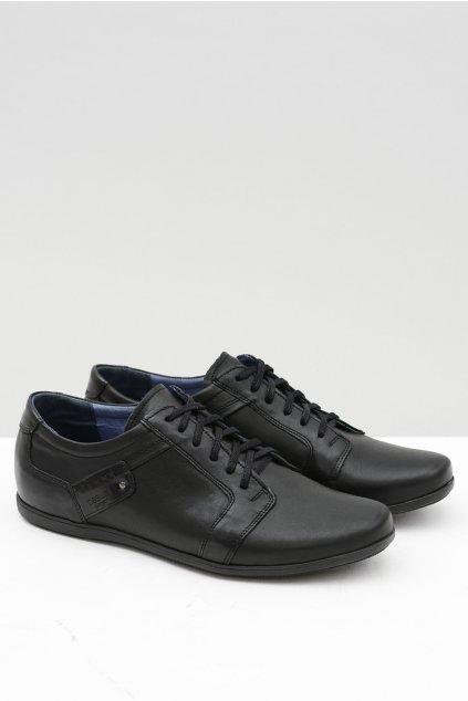 Pánske čierne topánky Nikopol Parna 1502