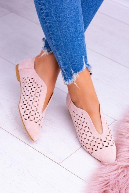 Dámske poltopánky farba ružová kód obuvi 978-C10 PINK
