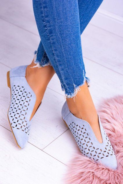 Lu Boo semišove modré dámske topánky Synthia