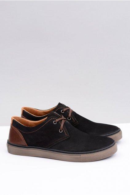 neex | Pánska čierna obuv Martino