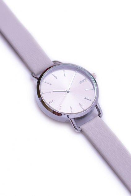 Ernest sivé dámske náramkové hodinky so strieborným náramkom Contero