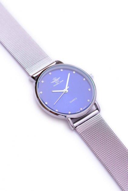 strieborné náramkové hodinky Michael John Dámske strieborné