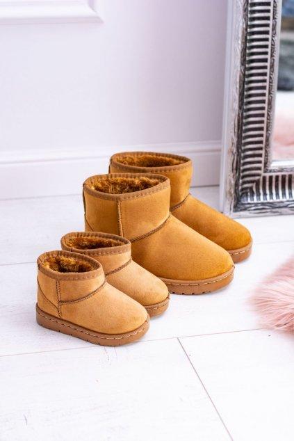 Dámske snehule farba hnedá kód obuvi 20213-3D KHAKI