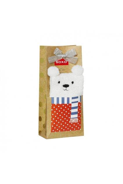 Dámske sivé ponožky SOXO w świątecznych pudełkach