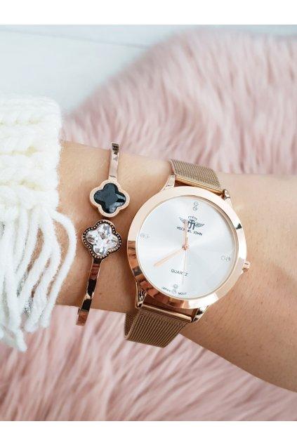 Dámske hodinky Michael John Ferri Ružové Zlato