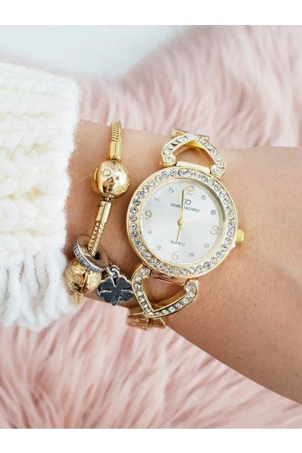 Dámske hodinky Giorgio & Dario so zirkónmi Emrat Gold zlaté
