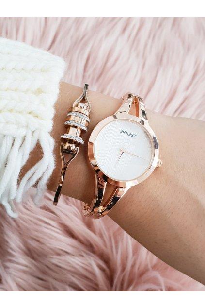 Ernest Dámske hodinky ružové zlato Classy
