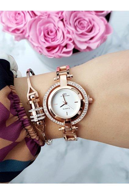 Dámske hodinky Giorgio & Dario so zirkónmi Get Ružové Zlato