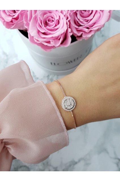 Dámsky náramok ružové zlato Neli