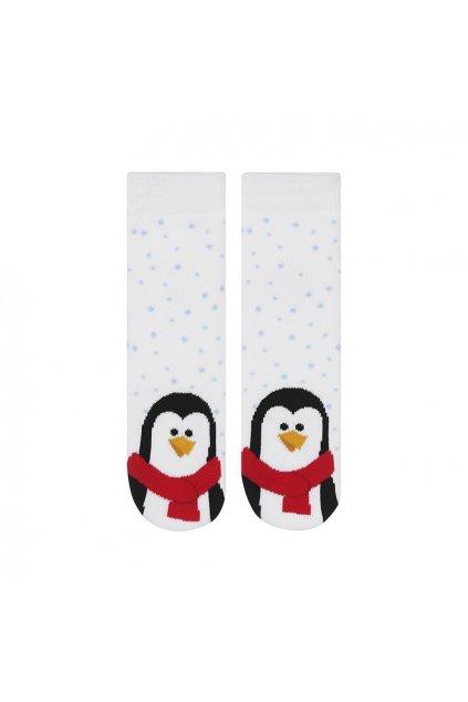 Detské ponožky farba biela kód 14686A PINGWIN