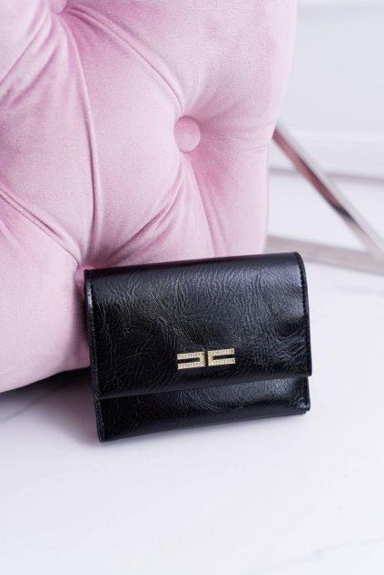 Dámska peňaženka klasická malá čierna na magnetku