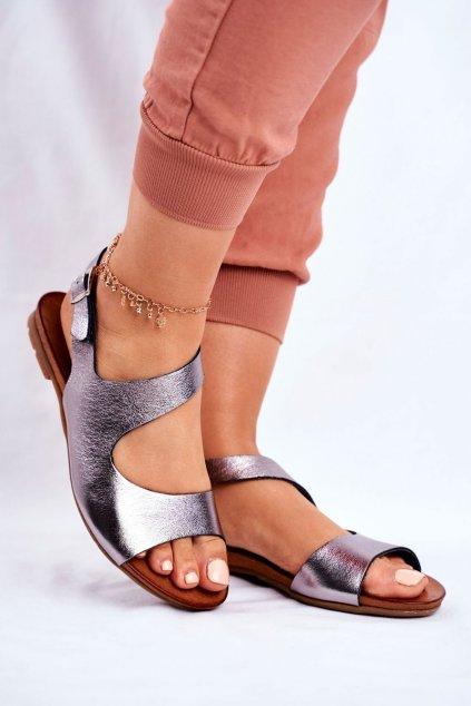Dámske ploché sandále farba čierna kód obuvi 1116 BLK 065