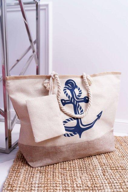Plážová béžová kabelka