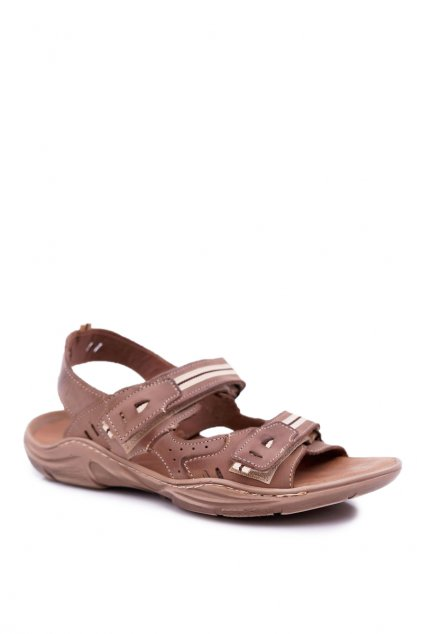 Športové kožené sandále Black