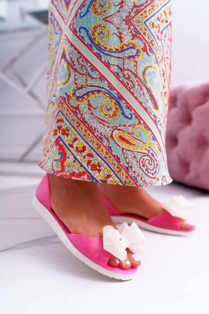 Dámske balerínky farba ružová kód obuvi H806 PINK